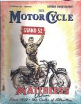 THE MOTORCYCLE - 15 NOV 1956 - LONDON SHOW REPORT - M2381